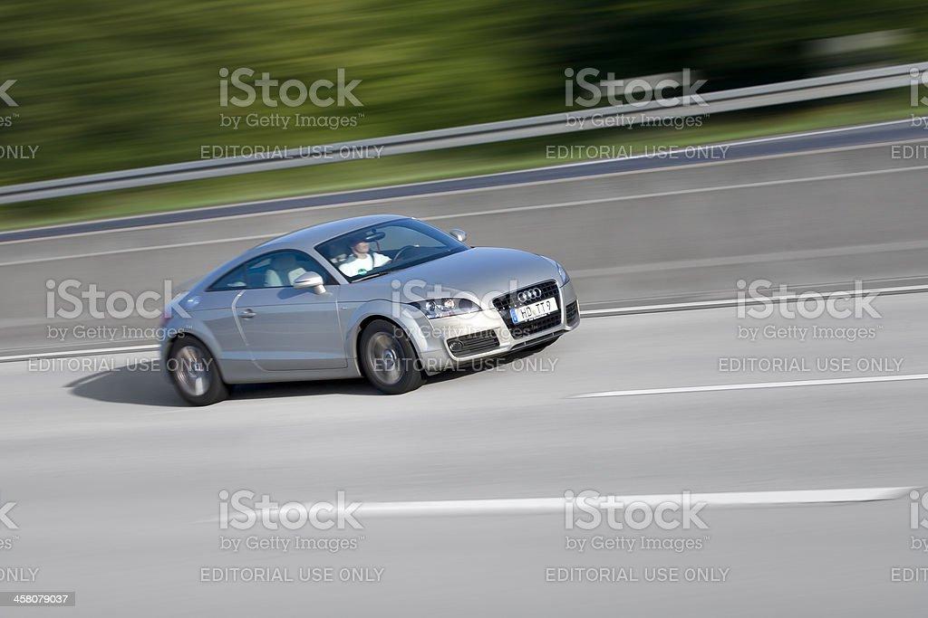 Audi TT Series, high speed stock photo