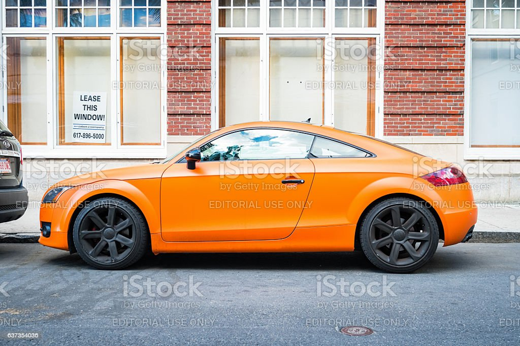 Audi TT Side View - Royalty-free Audi Stock Photo