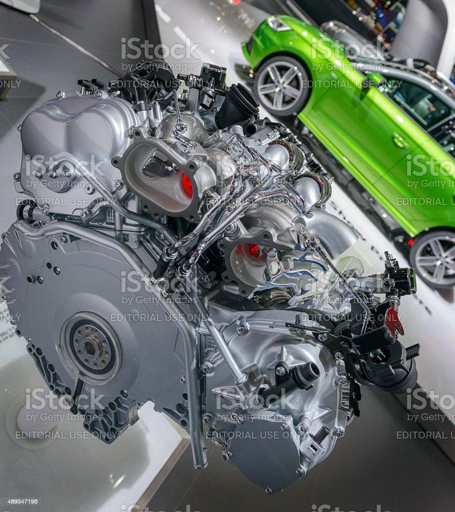 Audi V8 4.0 TFSI engine stock photo