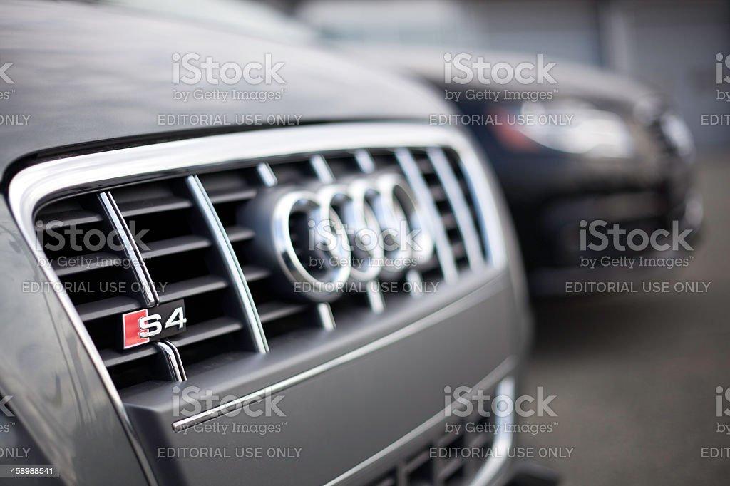 Audi Vehicles at a Car Dealership royalty-free stock photo