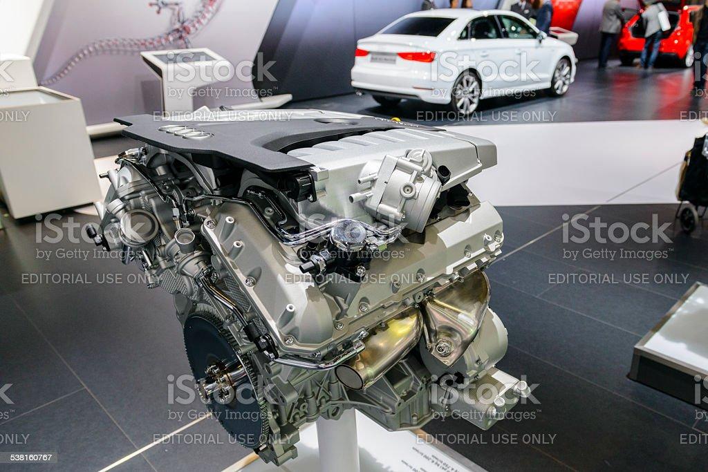 Audi W12 6.3 FSI engine stock photo