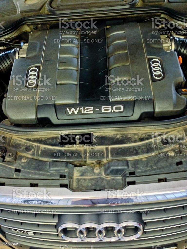 Audi W12-6.0 Engine stock photo