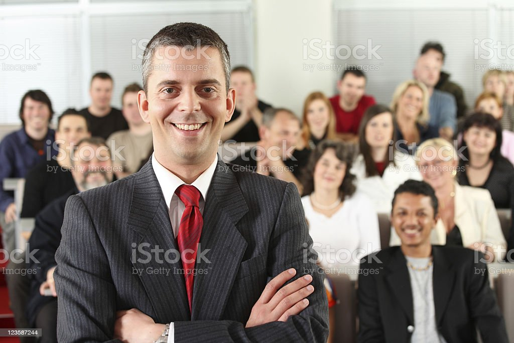 Audience and he royalty-free stock photo