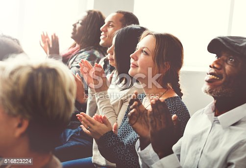 istock Audience Applaud Clapping Happines Appreciation Training Concept 516823224