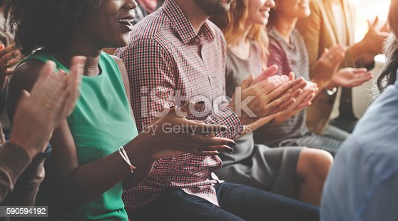 istock Audience Applaud Clapping Happines Appreciation Training Concept 590594192