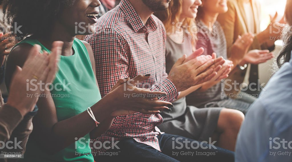 Audience Applaud Clapping Happines Appreciation Training Concept stok fotoğrafı