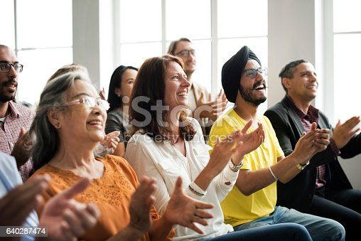istock Audience Applaud Clapping Happines Appreciation Training Concept 640287474