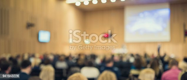 938409136 istock photo Audience at a conference event 941943226
