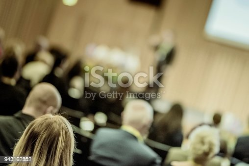 938409136 istock photo Audience at a conference event 943162852