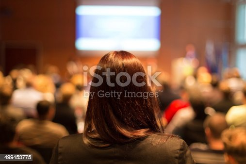 615804128 istock photo Audience at the conference hall. 499453775