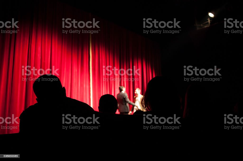 audience at theatre stock photo