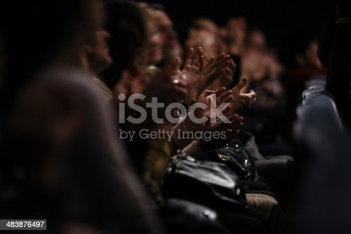 istock Audience clapping their hands 483876497