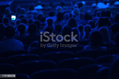 istock Audience in the cinema. Silhouette. 174160228