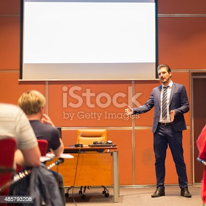 595328682 istock photo Audience in the lecture hall. 485793208