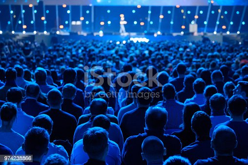 istock Audience listens to the lecturer at the conference 974238866