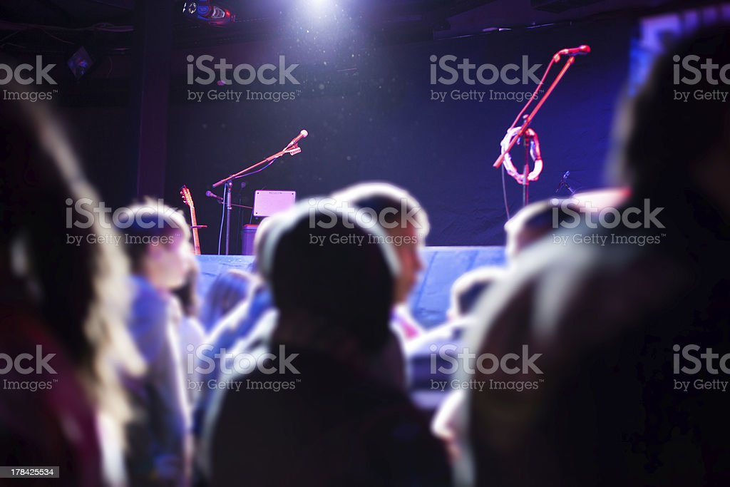 audience near the stage. royalty-free stock photo
