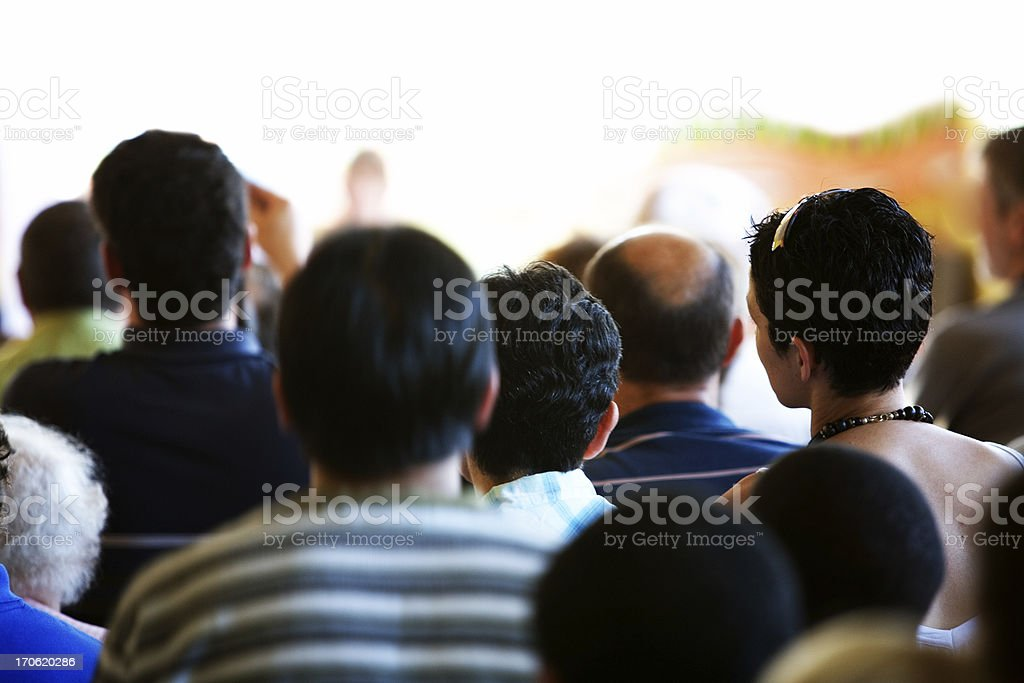 Audience royalty-free stock photo