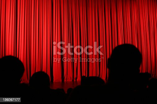 istock Audience silhouette and curtain 139267177