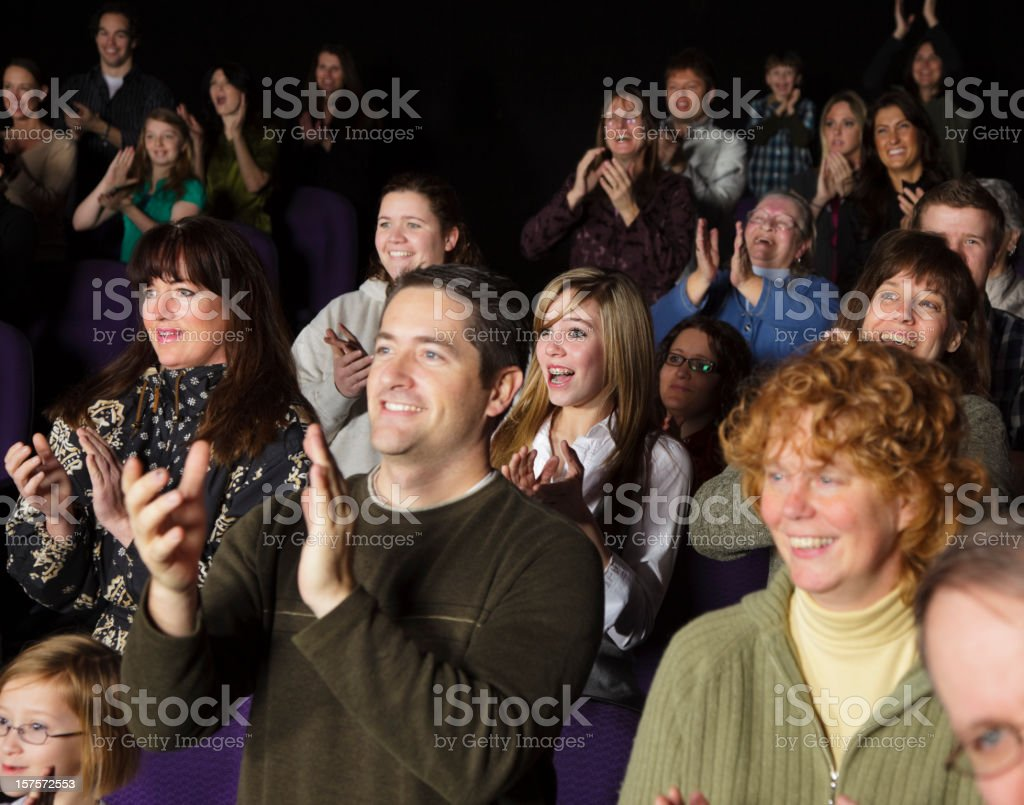 Audience Standing Ovation royalty-free stock photo