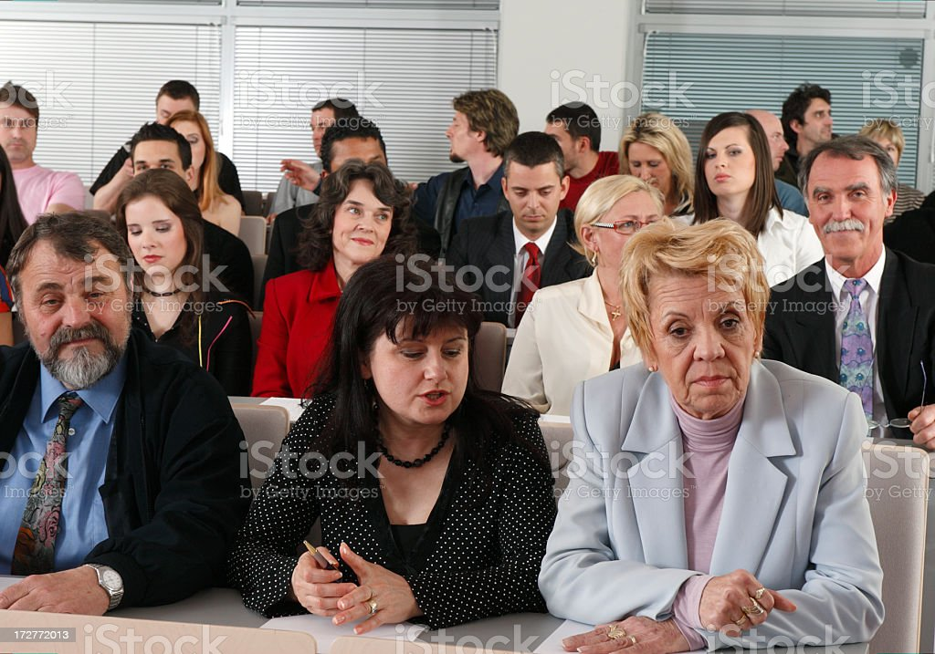Audience waiting royalty-free stock photo