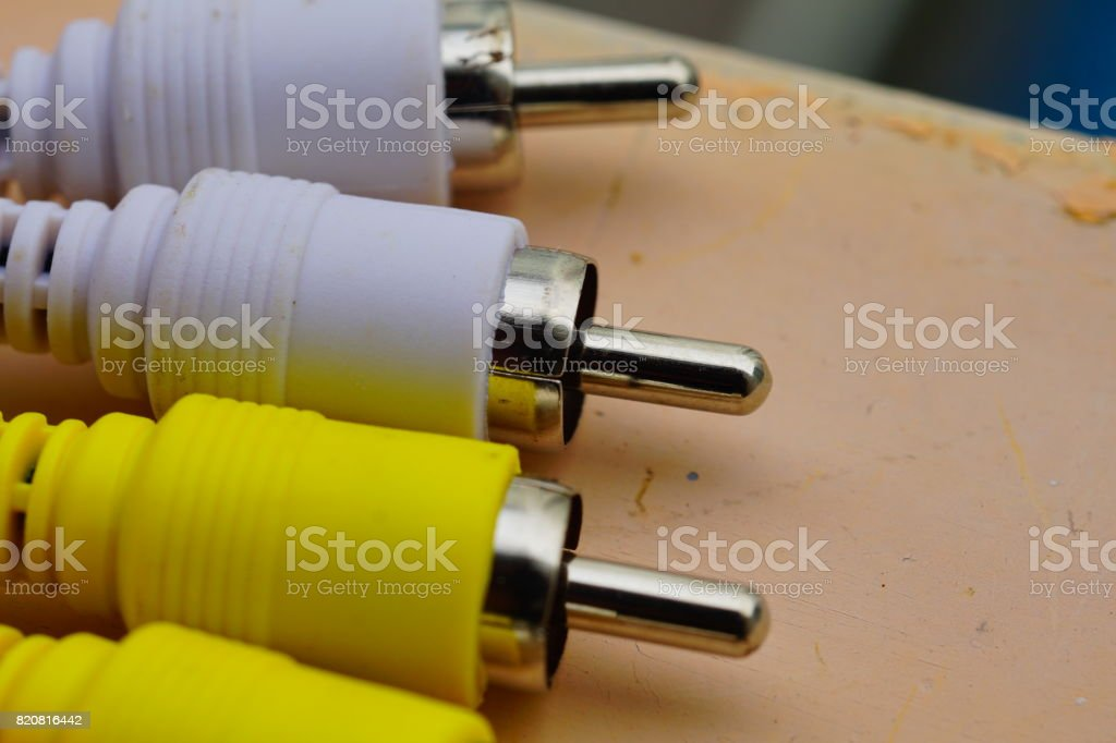 Audio and video cable stock photo