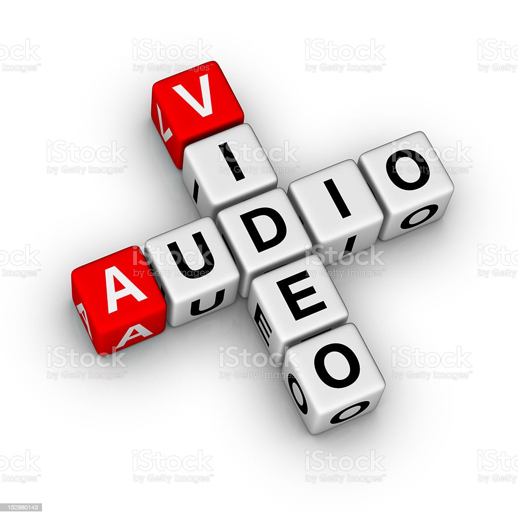 audio and video stock photo