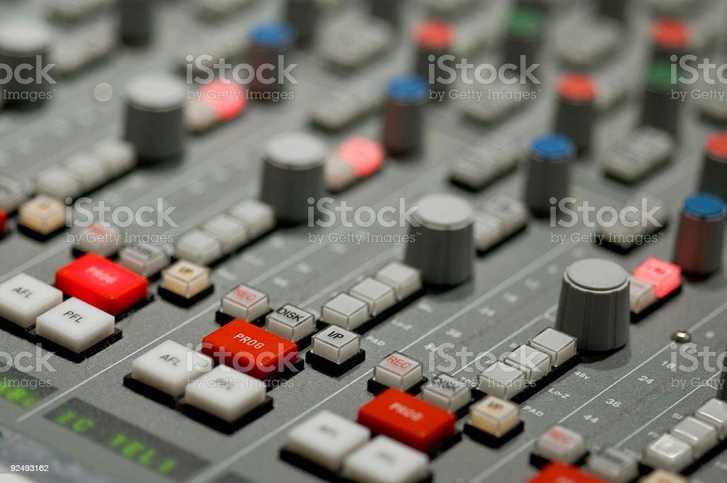 Audio Board royalty-free stock photo
