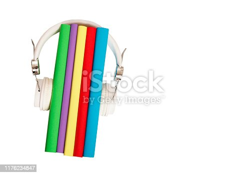 istock audio book concept , colorful books 1176234847