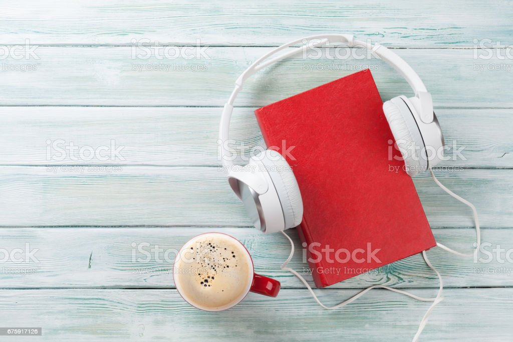 Audio book concept stock photo
