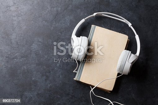 istock Audio book concept 690372704
