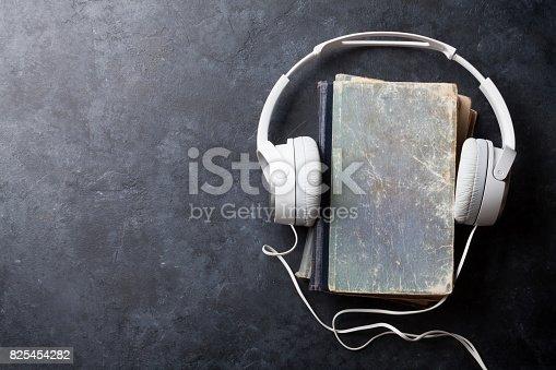 istock Audio book concept 825454282