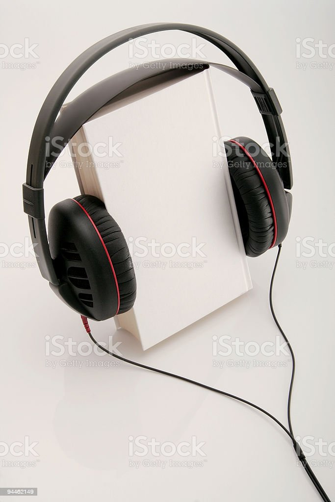 Audio book on white royalty-free stock photo