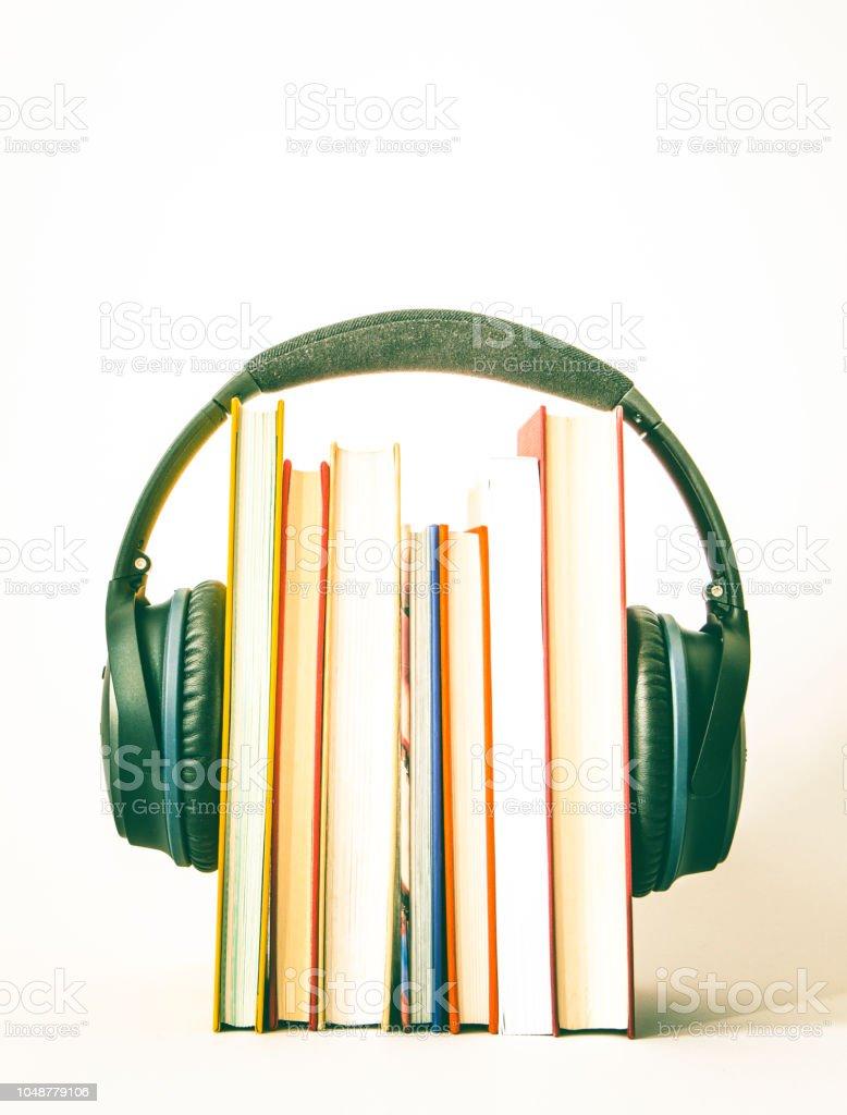 audio books stock photo