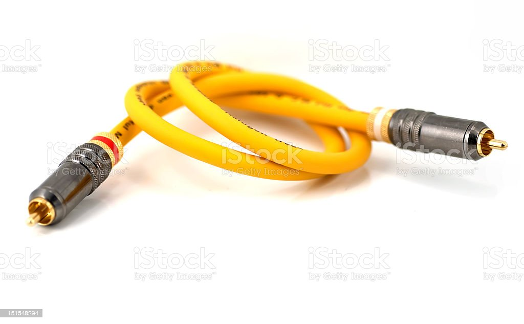 Audio cable stock photo