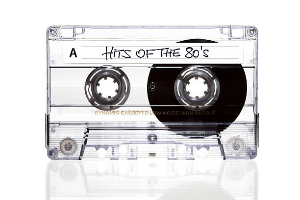 Audio Cassette. Hits of the 80s stock photo