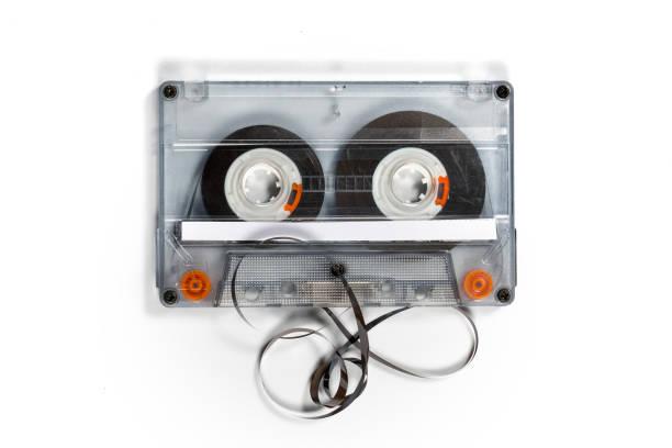 Audio cassette jam stock photo