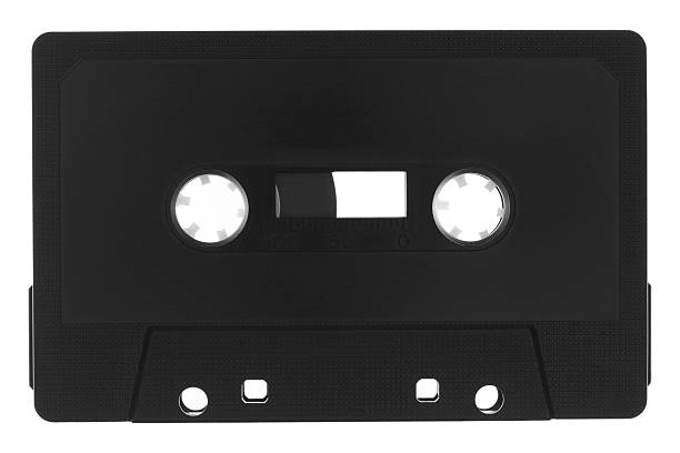 Audio Cassette Music Tape With Copy Space stock photo