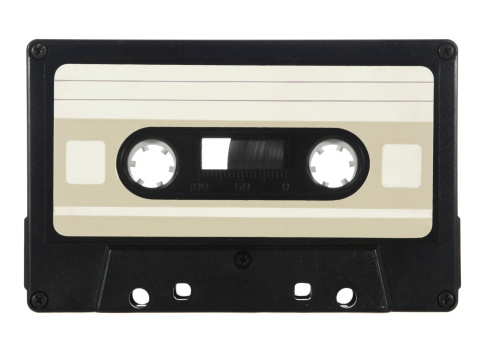Generic audio cassette - add your own custom design label