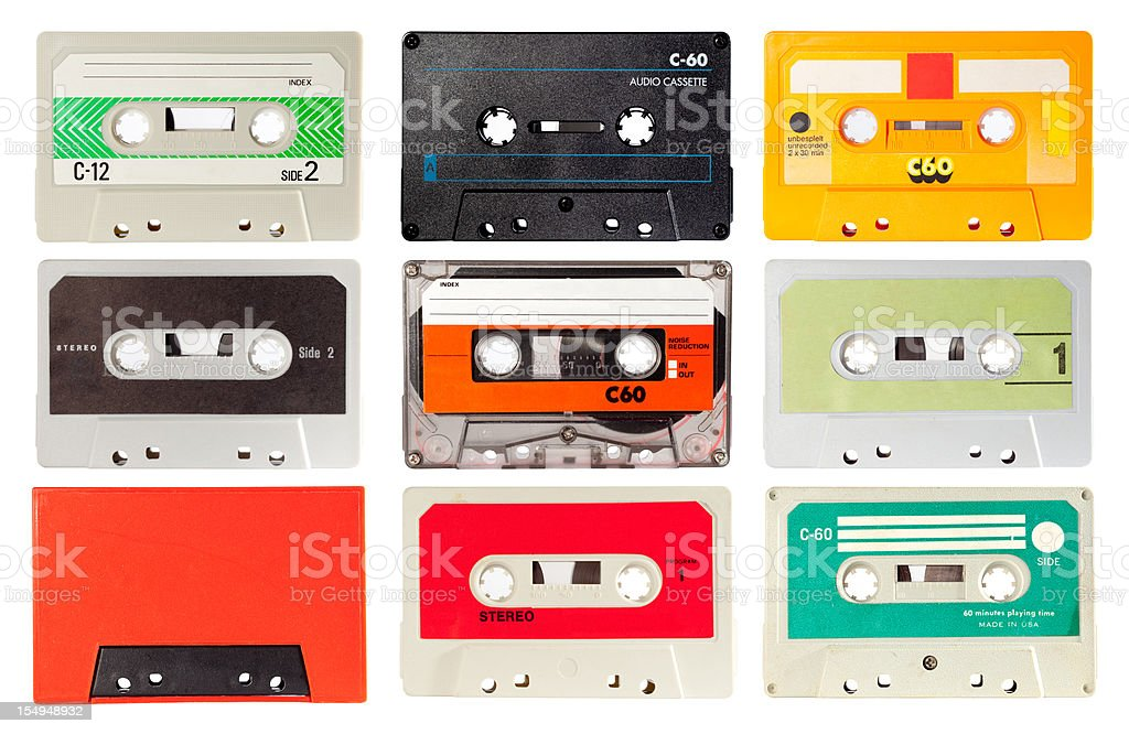 audio cassette series stock photo
