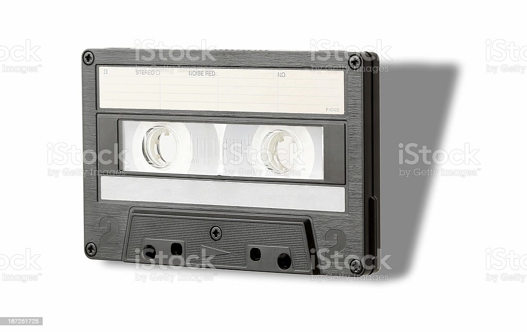 Audio cassette with shadow royalty-free stock photo