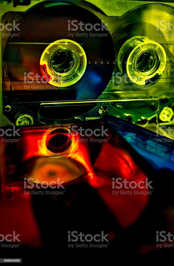 Audio Cassettes And Mini Disc stock photo