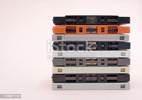 stack of audio cassette