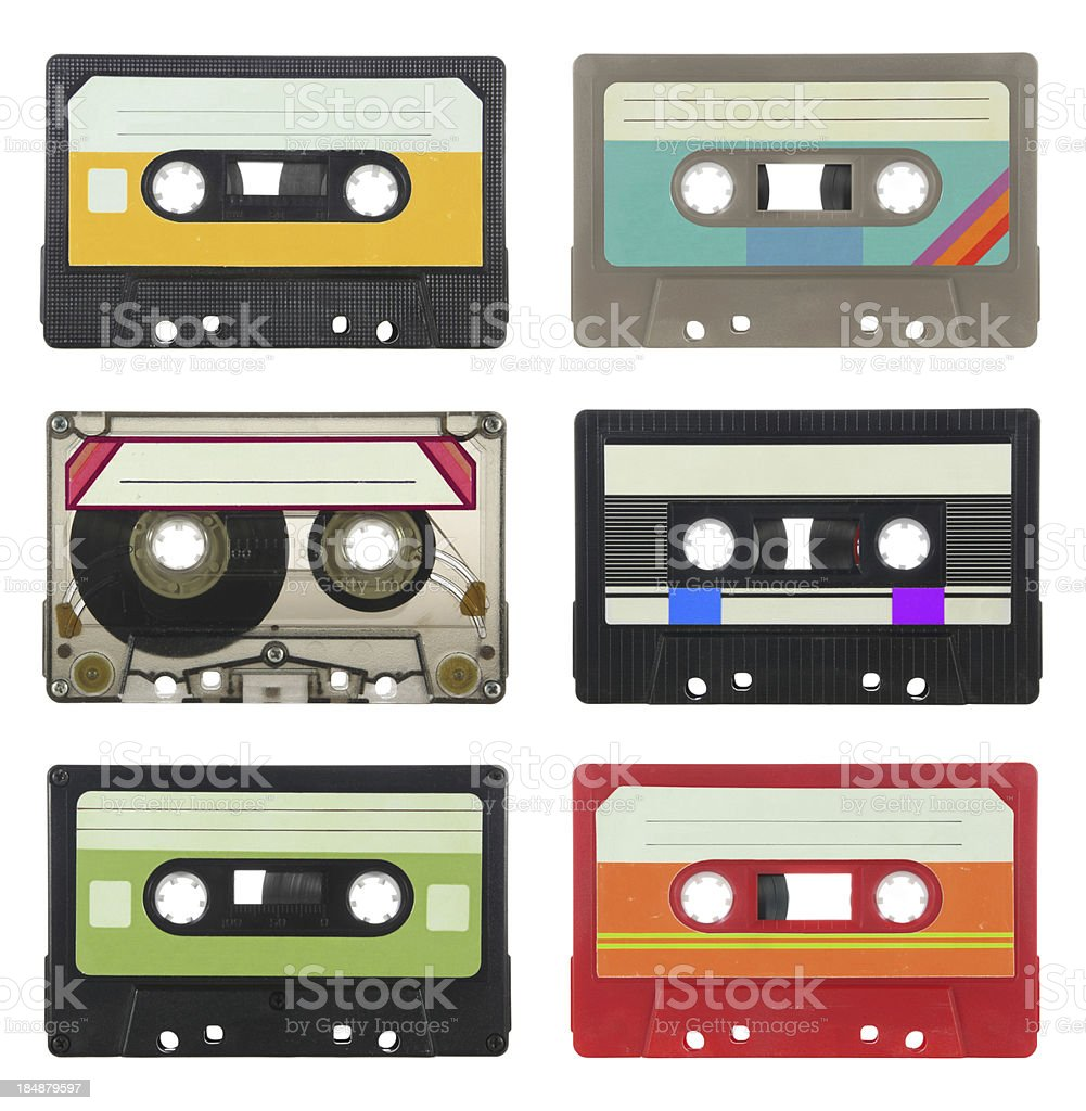 Audio cassettes royalty-free stock photo