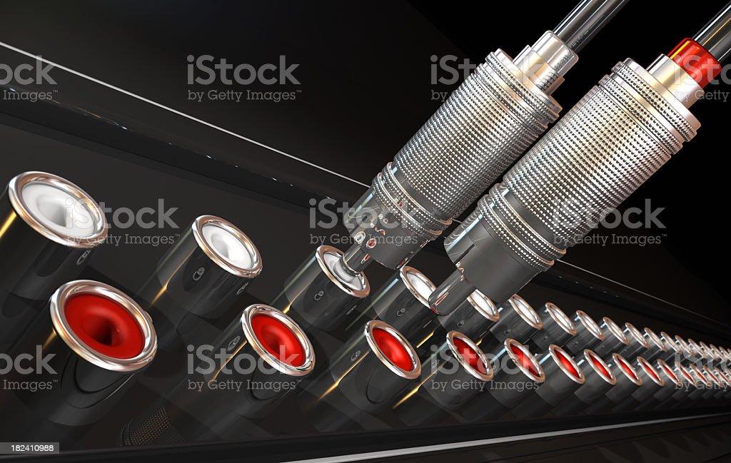 Audio connection stock photo