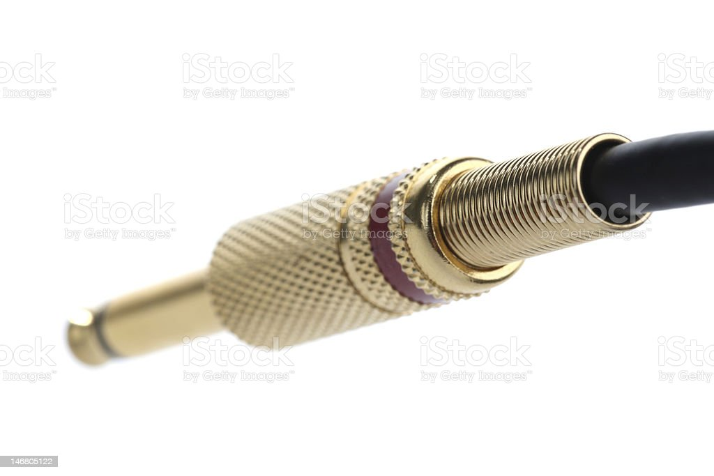 Audio connector back stock photo