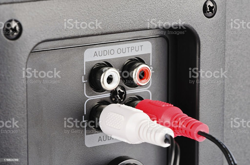 Audio connector royalty-free stock photo