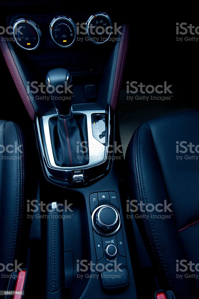 audio control button of modern car stock photo