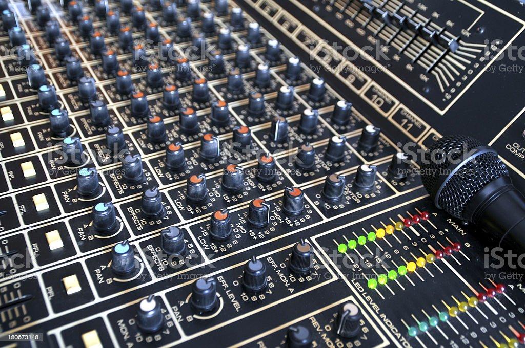 Audio controls royalty-free stock photo