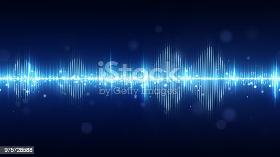 istock Audio digital equalizer technology background 975728588