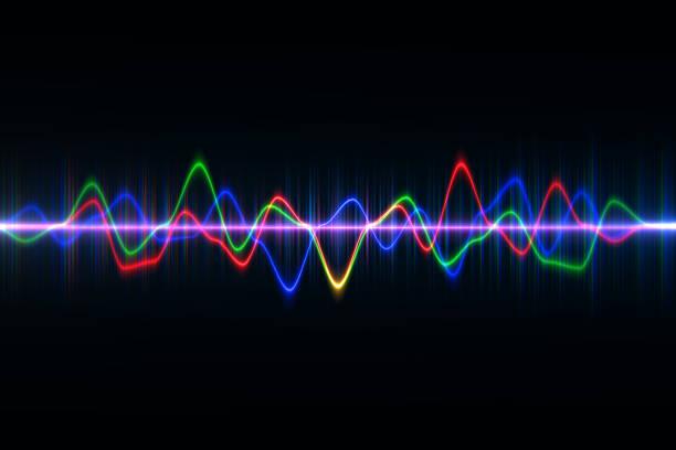 digitale audio-equalizer technologie, puls musical.abstract schallwelle, lichtfrequenzen oder hellen equalizer. neon bunt digital musikbar für technologie-konzept - frequenzen stock-fotos und bilder